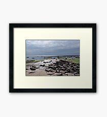 Back Beach 3 - Lyme Regis Framed Print