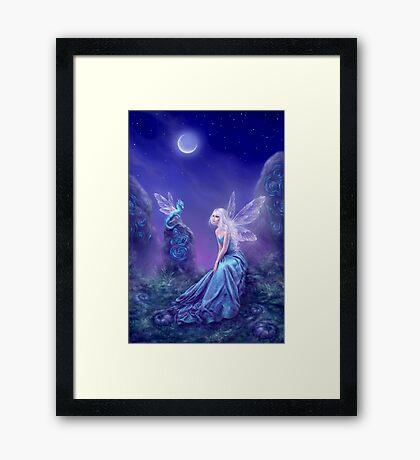Luminescent Fairy & Dragon Art Framed Print