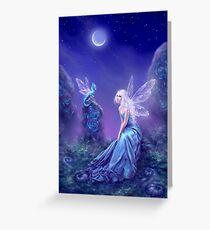Luminescent Fairy & Dragon Art Greeting Card