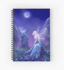 Luminescent Fairy & Dragon Art Spiral Notebook