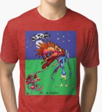 The Cow Jumped Over the Moon Tri-blend T-Shirt