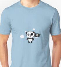 Panda Pirate with Flag Ra19o Unisex T-Shirt