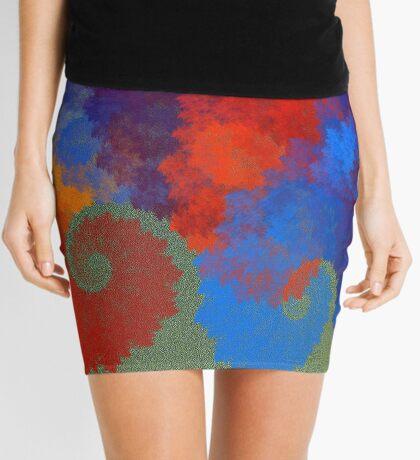 Summer Peacock Mini Skirt