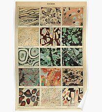 Crystals Print - Geologie Print - Vintage Französisch Wissenschaft Journal Poster