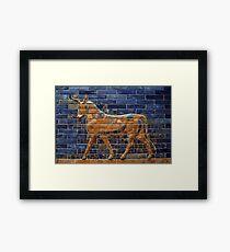 Mosaic Bull (Ochre) Framed Print