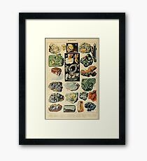 MINERALS - French Geology  Framed Print