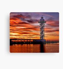 Sunset at Dobbins Landing - Erie, PA Metal Print