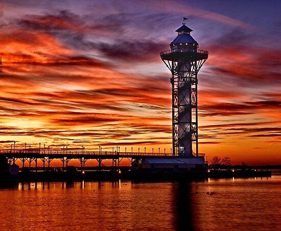 Bicentennial Tower at Dobbins Landing - Erie, PA by Kathy Weaver