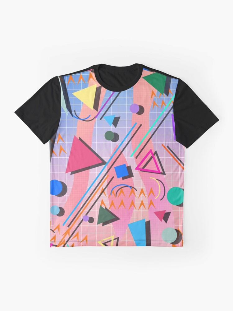 Alternate view of 80s pop retro pattern 2 Graphic T-Shirt