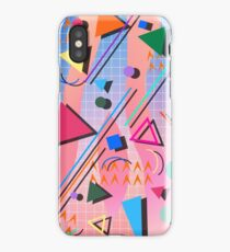 80s pop retro pattern 2 iPhone Case