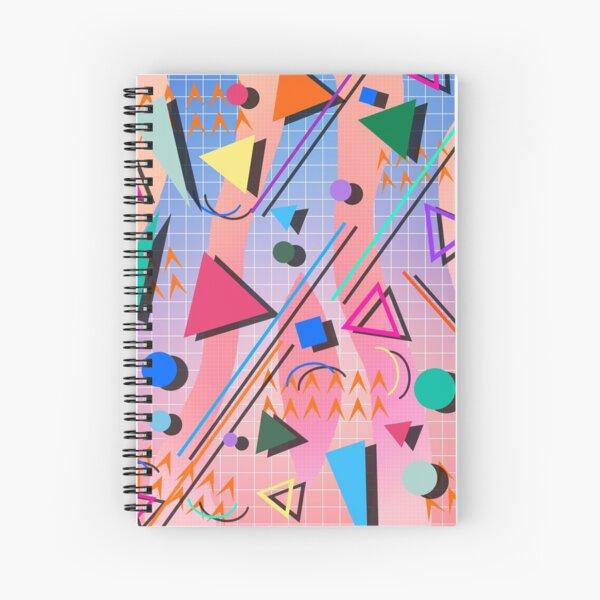 80s pop retro pattern 2 Spiral Notebook