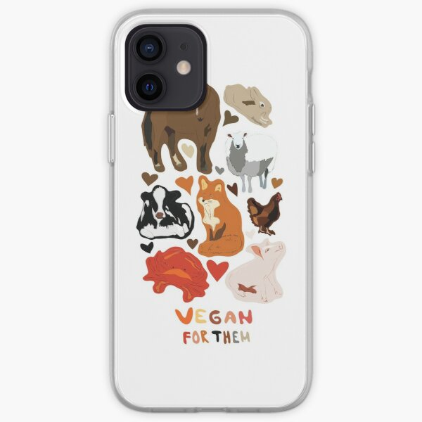 Vegan for the animals iPhone Soft Case