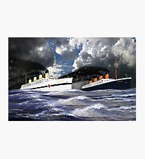 RMS Titanic and her Sister the HMHS Britannic early 20th century Photographic Print