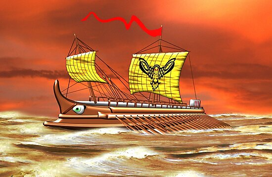 7th to the 4th century BCE Greek Trireme by Dennis Melling