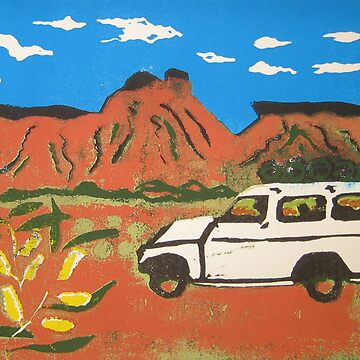 Landcruiser & wattle on the Canning by pipwill