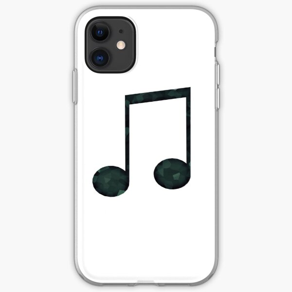 Geometric Low Poly Music Note iPhone Soft Case