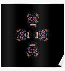 Neon skulls Poster