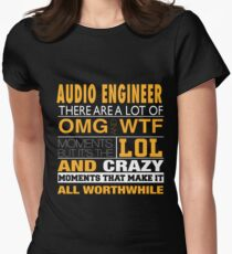 audio engineer - LOL & WTF Womens Fitted T-Shirt