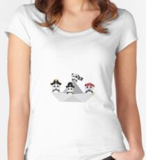 Panda Pirates Paperboat Crew  R6lca Women's Fitted Scoop T-Shirt