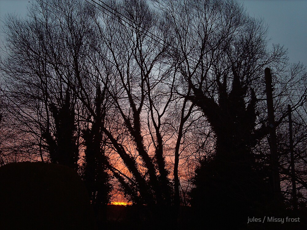 Sunrise from our house by jules / Missy frost
