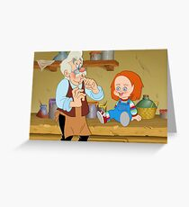 The Puppeteer and his doll  Greeting Card
