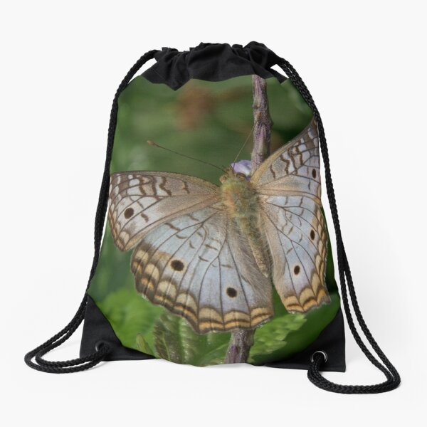 White Peacock Butterfly at Pillcopata, Peru Drawstring Bag