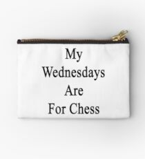 My Wednesdays Are For Chess  Studio Pouch
