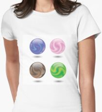 set of colorful ball Womens Fitted T-Shirt