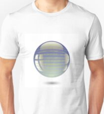 digital sphere with programming code isolated on white background Unisex T-Shirt