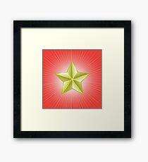 gold star Framed Print