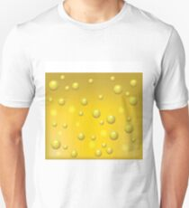 Yellow Beer with Bubbles of Carbon Dioxide Background Unisex T-Shirt