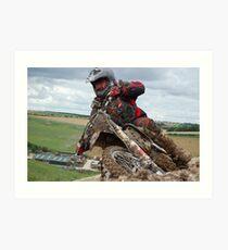 Ashdown Motocross Berm Art Print