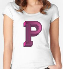 Alphabet lettre P for Purple Women's Fitted Scoop T-Shirt