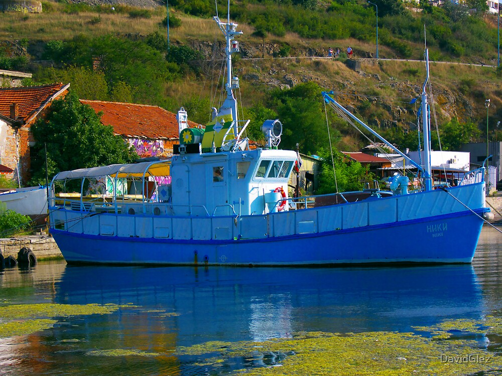 Blue ship by DavidGlez