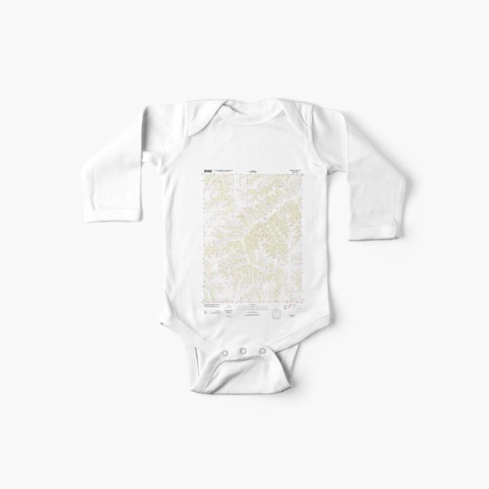 USGS TOPO Maps Iowa IA Olmitz 20130408 TM Body para bebé