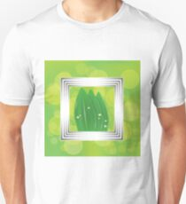 leaves in a white frame Unisex T-Shirt
