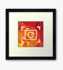camera symbol Framed Print