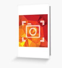 camera symbol Greeting Card