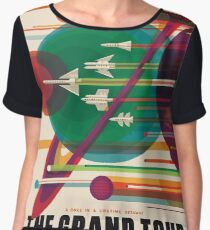 The Grand Planet Tour, Space Travel Poster Chiffon Top