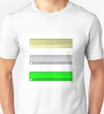 Set of Different Rulers Isolated on White Background Unisex T-Shirt