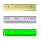 Set of Different Rulers Isolated on White Background by valeo5