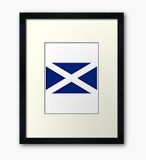 Scottish Independence Flag Scotland T-Shirt Framed Print