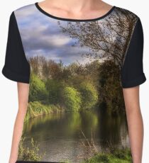 The River Kennet At Burghfield Chiffon Top