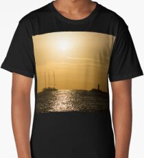 Tallship - Sunny Harbor Approach Long T-Shirt