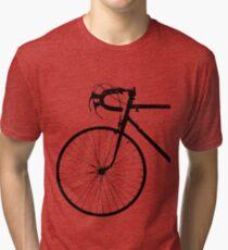 Crescent Bike Black Tri-blend T-Shirt