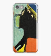 Black Dog and Green Ball iPhone Case/Skin
