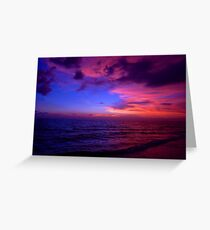 Cotton Candy Sunset on the Beach Greeting Card
