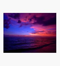 Cotton Candy Sunset on the Beach Photographic Print