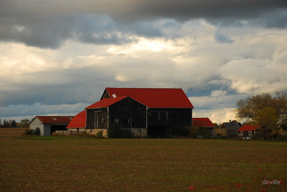 red barn by deville