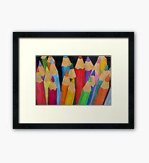 Pencil Tin Framed Print